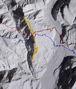 Modello dell'ambito storico della Prima Guerra Mondiale sul Monte Zugna